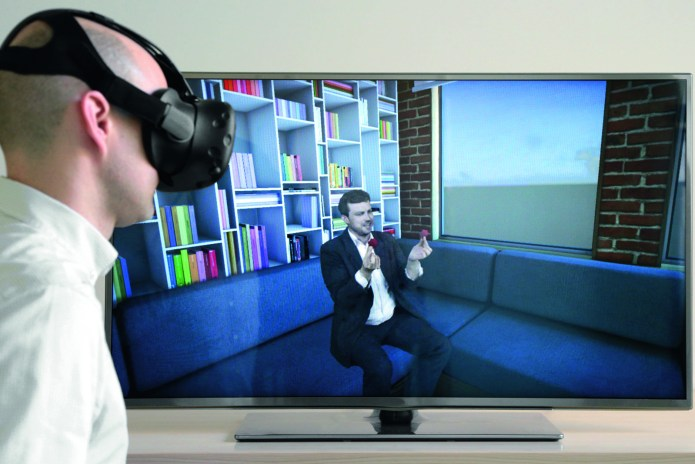 © Photo Fraunhofer HHI Right in the middle of the action with VR glasses: A new camera system virtually represents people naturally and realistically.
