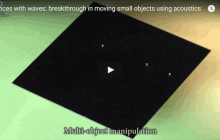 Dances with waves: breakthrough in moving small objects using acoustics