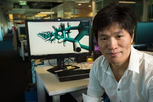 QUT's Dr Haifei Zhan is leading a global effort to work out how many ways humanity can use a newly-invented material with enormous potential – diamond nanothread (DNT).
