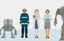Study of human views on the robotisation of office and service professions