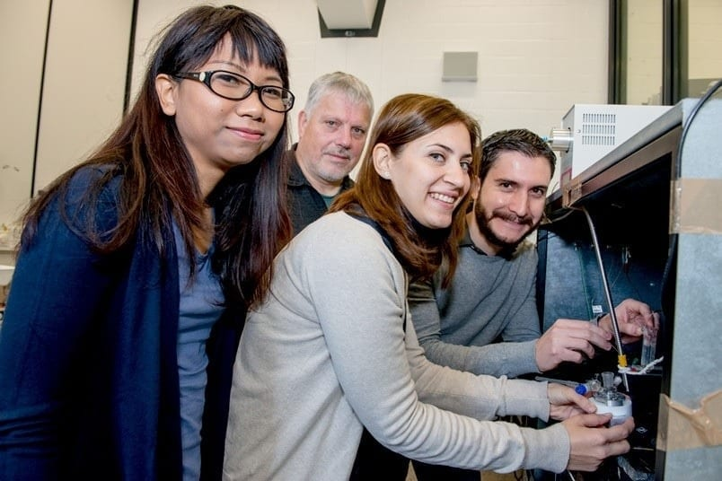 The Bochum-based team: Piyanut Pinyou, Wolfgang Schuhmann, Sabine Alsaoub and Felipe Conzuelo (from left) via RUB, Marquard