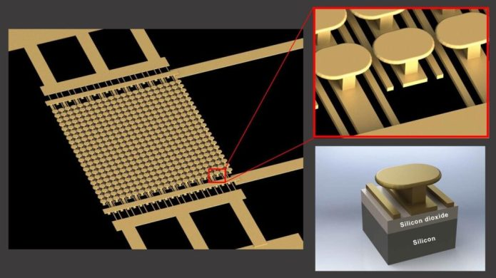 The designed semiconductor-free microelectronic device. Image courtesy of UC San Diego Applied Electromagnetics Group.