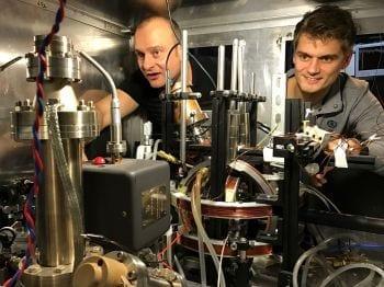 Professor Winfried Hensinger (left) and Dr Seb Weidt.