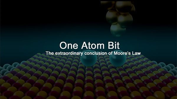 Single Atom Memory: The extraordinary end of Moore's law
