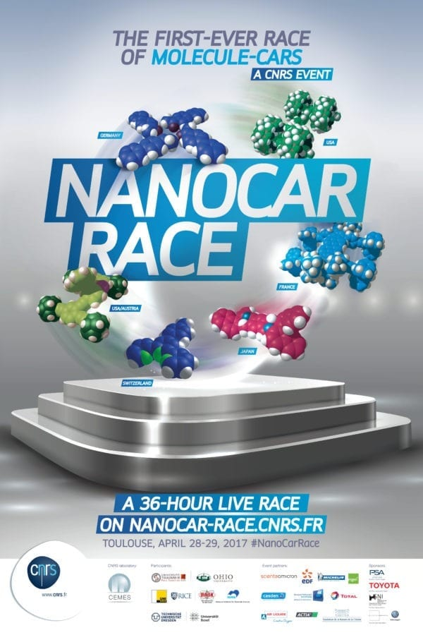 Nanocars will compete for the first time ever during an international molecule-car race on April 28-29, 2017 in Toulouse