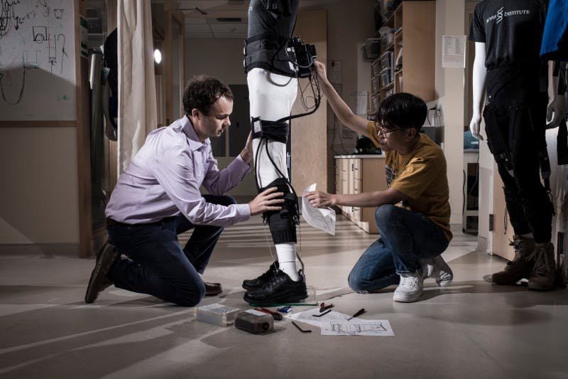 A lightweight, soft, wearable ankle-assisting exosuit