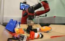 A robotic learning technology that enables robots to imagine the future of their actions