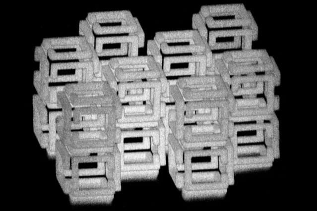 A revolutionary nanofabrication system that produces 3-D structures one thousandth the size of the originals