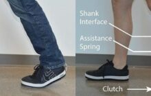First inexpensive ankle exoskeleton that could be worn under clothes without restricting motion