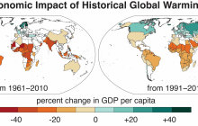 The economic impact of historical global warming
