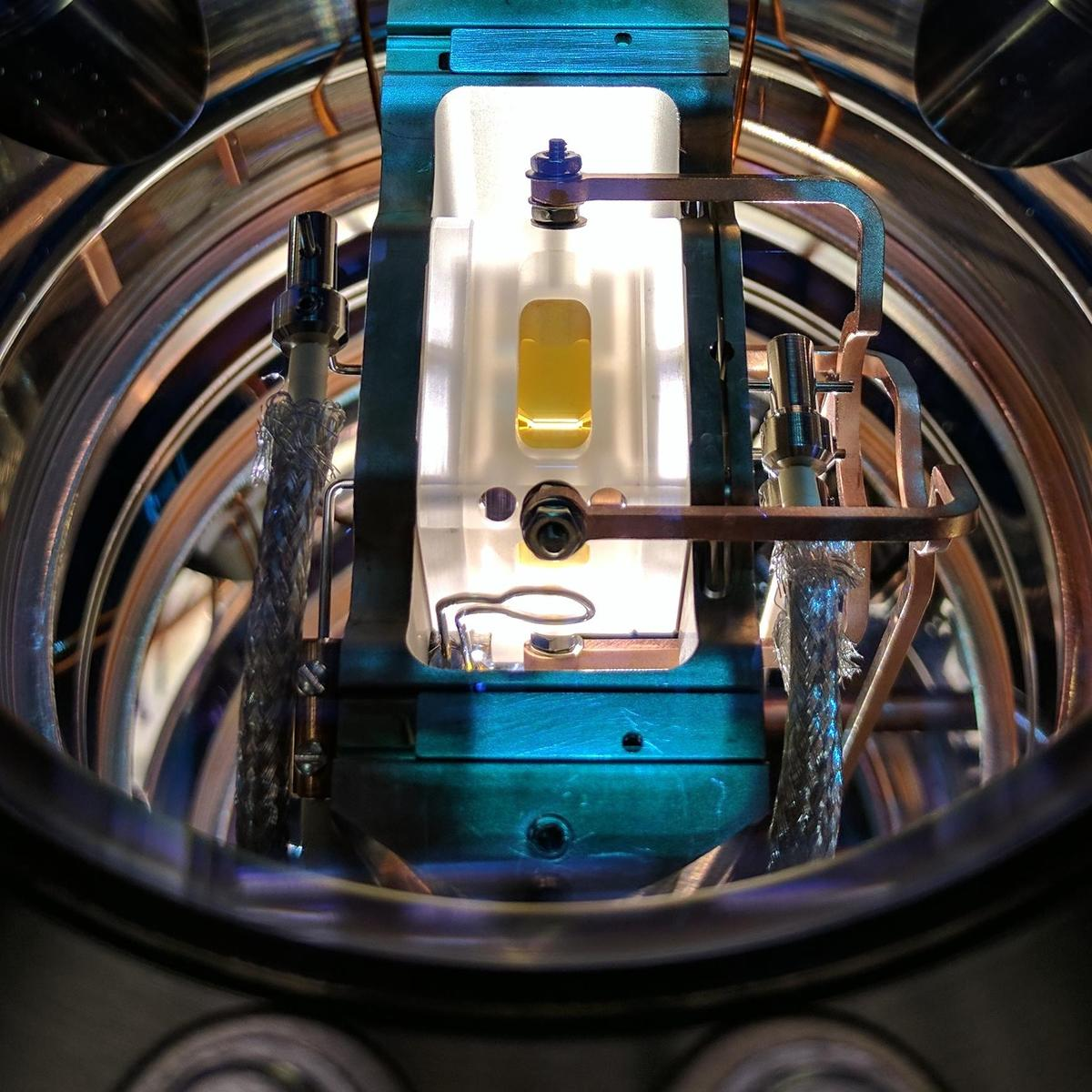 Ion trap in the Quantum Control Laboratory used in the experiment for the research.