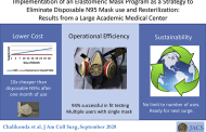 Reusable elastomeric masks reduces the number of N95 masks needed by nearly 95 percent in one month