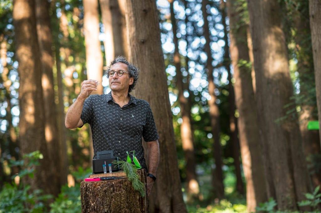 UBC forestry professor Richard Hamelin preparing samples for analysis. Photo credit: Paul H Joseph/UBC