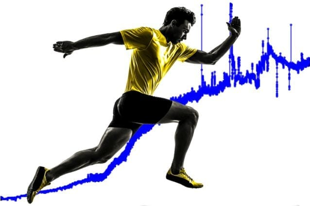 Lactate curve from sweat sensor during exercise