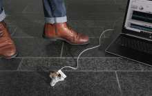 Tracking the movement of building occupants using sensors installed on floor slabs