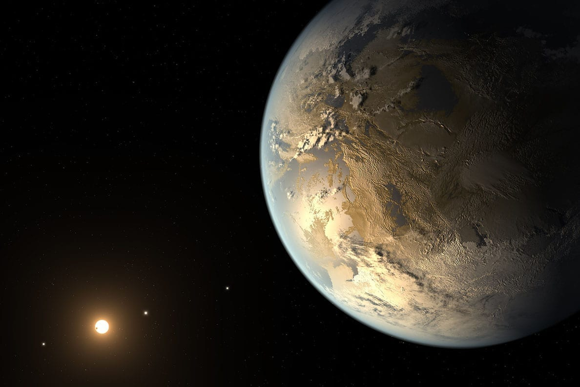 Artist's depiction of the first validated Earth-size planet to orbit a distant star in the habitable zone identified by NASA's Kepler Space Telescope. Researchers are proposing that future telescopes look for planets that are better for life than Earth. Image Credit: NASA Ames/SETI Institute/JPL-Caltech