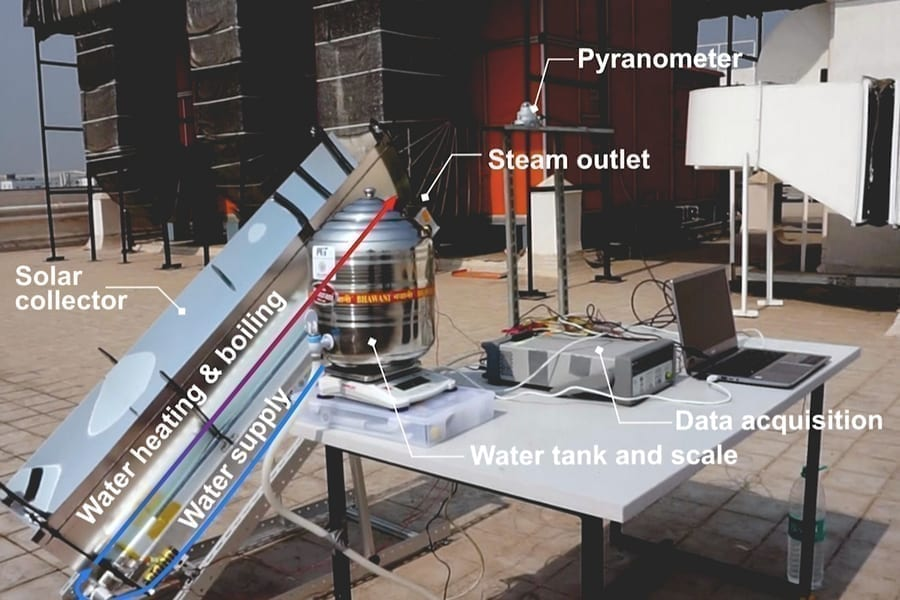 Researchers at MIT and the Indian Institute of Technology have come up with a way to generate the steam required by autoclaves using just the power of sunlight to help maintain safe sterile equipment at low cost in remote locations Image courtesy of the researchers