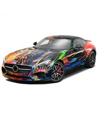 Sport Car in a Avery Dennison Wrap