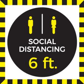 """12"""" x 12"""" 6' Social Distancing (Wall, Floor, Window) 017"""