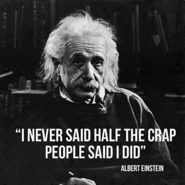 Famous quotes - fake Einstein