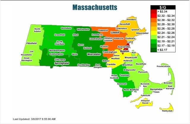 massachusetts gas prices