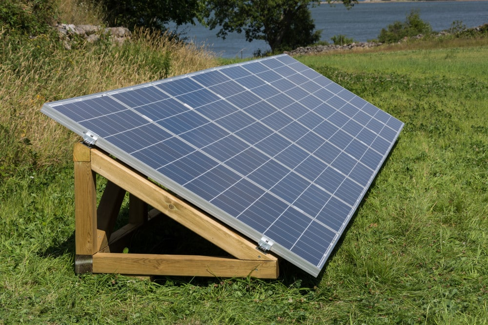 PV installation on a wooden frame Solar Power Set by InnoVentum