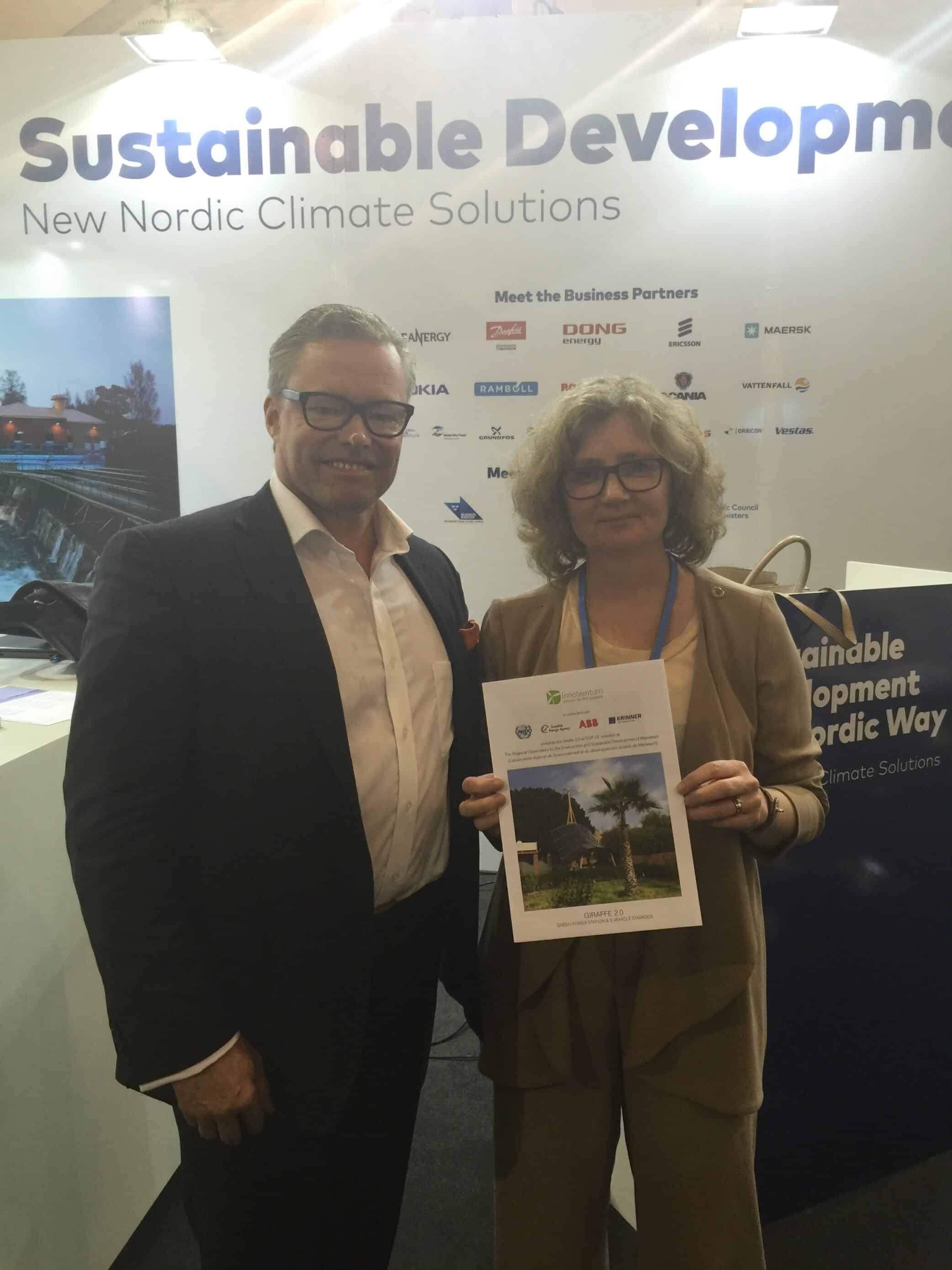 Our CEO Sigvald Harryson with State Secretary Eva Svedling