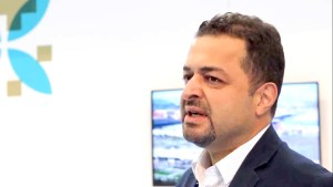 Photo of Fatih Komuldas during the GSMA interview