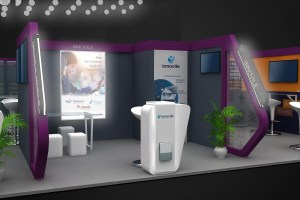 Photo of Innovile's booth at MWC2017