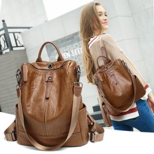 2019 Women Leather Backpacks High Quality Female Vintage Backpack Travel Shoulder Bag Mochilas Feminina School Bags Innrech Market.com