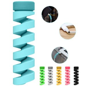 6pcs set Cable protector Bobbin winder Data Line Case Rope Protection Spring twine For iPhone Android Innrech Market.com