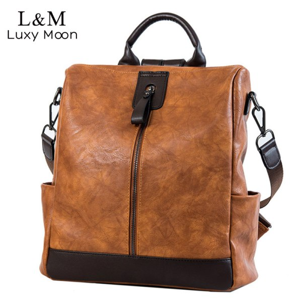 Fashion Women High Quality Leather Backpack Multifunction Leatherett Backpack For Female Big Bookbag Travel Bag Sac Fashion Women High Quality Leather Backpack Multifunction Leatherett Backpack For Female Big Bookbag Travel Bag Sac A Dos XA279H