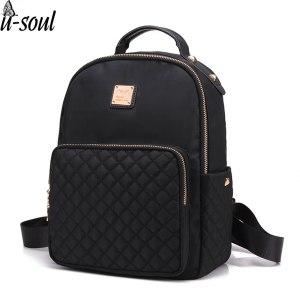 Female Backpack Preppy Style Nylon Women Backpack High Qulaity Shoulder Bags Student Bag Black Backpack A2217 Innrech Market.com