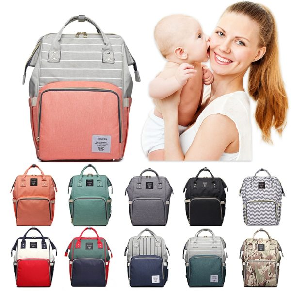 Lequeen Mommy Diaper Bag Baby Mummy Carriage Backpack Mother Changing Bag Maternity Bag Care Stroller Large Lequeen Mommy Diaper Bag Baby Mummy Carriage Backpack Mother Changing Bag Maternity Bag Care Stroller Large Capacity Nappy Bag