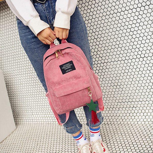 Maison Fabre Women s Fashion Preppy Style Canvas Tassel School Bags Letter Zipper Solid Bucket Travel Maison Fabre Women's Fashion Preppy Style Canvas Tassel School Bags Letter Zipper Solid Bucket Travel Soft Backpack Bag