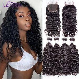 Malaysian Water Wave Human Hair Bundles With Closure 3 or 4 Bundles With Closure LeModa Remy Innrech Market.com