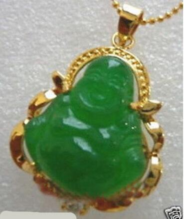New good Lucky Green JADE NEW Buddha Pendant Necklace New good Lucky Green JADE NEW Buddha Pendant&Necklace