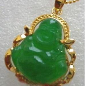 New good Lucky Green JADE NEW Buddha Pendant Necklace Innrech Market.com