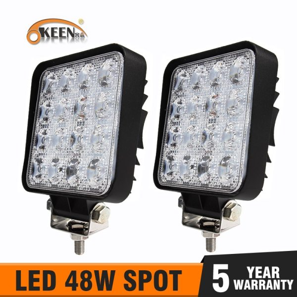 OKEEN 4inch 10cm 18W 27W 48W Offroad Car 4WD Truck Tractor Boat Trailer 4x4 SUV ATV OKEEN 4inch 10cm 18W 27W 48W Offroad Car 4WD Truck Tractor Boat Trailer 4x4 SUV ATV 24V 12V Spot LED Light Bar LED Work Light