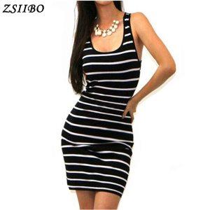 Spring Summer autumn women Casual long Short Sleeve Striped Sexy O Neck Femme Ladies mini dress Innrech Market.com