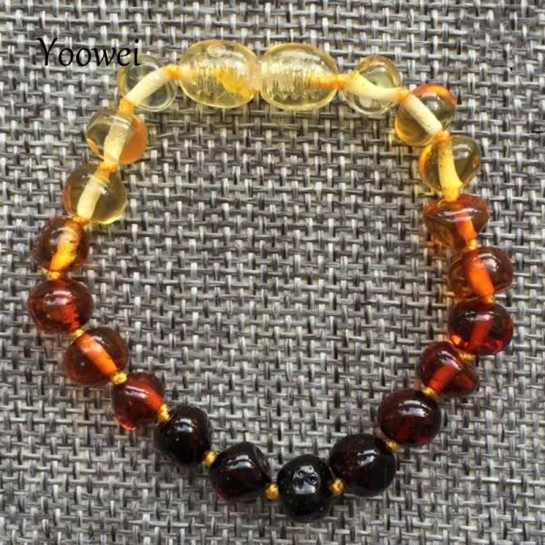 Yoowei Baby Teething Amber Bracelet for Boys Girl Best Women Ladies Gift Natural Baltic Amber Jewelry Yoowei Baby Teething Amber Bracelet for Boys Girl Best Women Ladies Gift Natural Baltic Amber Jewelry Adult Anklet Sizes 13-23cm