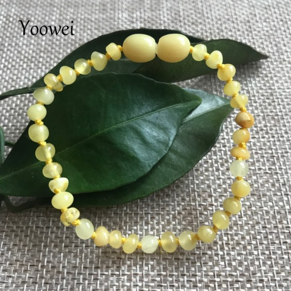 Yoowei Natural Amber Bracelet Anklet for Gift Women Amber Bracelet Baltic 4mm Small Beads Baby Teething 3 Yoowei Natural Amber Bracelet/Anklet for Gift Women Amber Bracelet Baltic 4mm Small Beads Baby Teething Custom Jewelry Wholesale