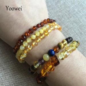 Yoowei Natural Amber Bracelet Anklet for Gift Women Amber Bracelet Baltic 4mm Small Beads Baby Teething Innrech Market.com