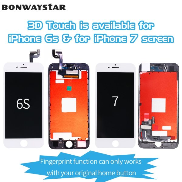 AAA LCD Display For iPhone 6 7 touch Screen replacement Digitizer Assembly for iPhone 5S SE 5 AAA+++ LCD Display For iPhone 6 7 touch Screen replacement Digitizer Assembly for iPhone 5S SE 6S LCD Screen No Dead Pixel