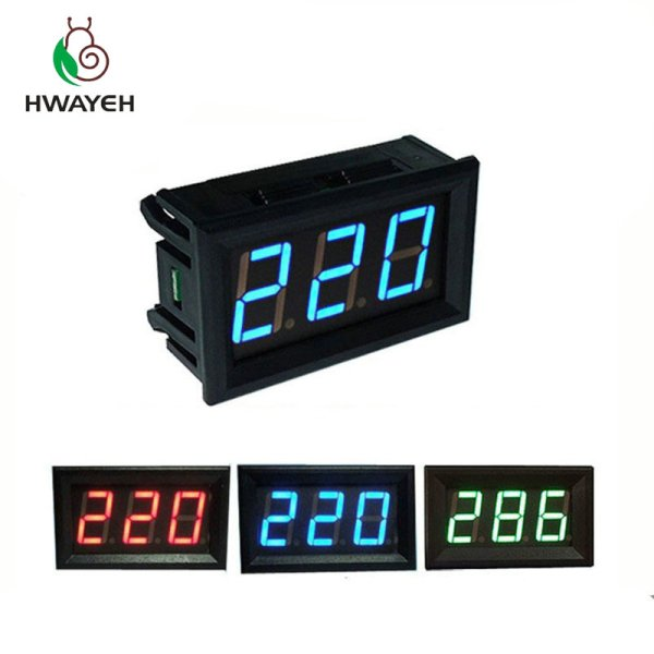 "AC 70 500V 0 56 LED Digital Voltmeter Voltage Meter Volt Instrument Tool 2 Wires Red AC 70-500V 0.56"" LED Digital Voltmeter Voltage Meter Volt Instrument Tool 2 Wires Red Green Blue Display 110V 220V DIY 0.56 Inch"