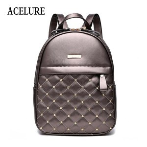ACELURE Women Backpack Hot Sale Fashion Causal bags High Quality bead female shoulder bag PU Leather Innrech Market.com