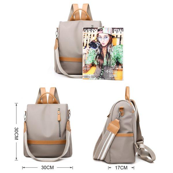 Anti theft women backpacks ladies large capacity backpack high quality bagpack waterproof Oxford women backpack sac 3 Anti-theft women backpacks ladies large capacity backpack high quality bagpack waterproof Oxford women backpack sac a dos