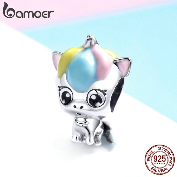 BAMOER New Collection 925 Sterling Silver Colorful Enamel Licorne Beads fit Charms Bracelets Necklaces DIY Jewelry 1 BAMOER New Collection 925 Sterling Silver Colorful Enamel Licorne Beads fit Charms Bracelets & Necklaces DIY Jewelry Gift BSC059