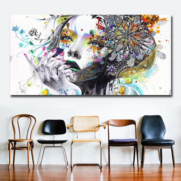 Beautiful Flower Girl Painting Canvas Wall Art Posters Print Pictures For Bedroom Home Decoration No Frame 1 Beautiful Flower Girl Painting Canvas Wall Art Posters Print Pictures For Bedroom Home Decoration No Frame Discount Dropshiping