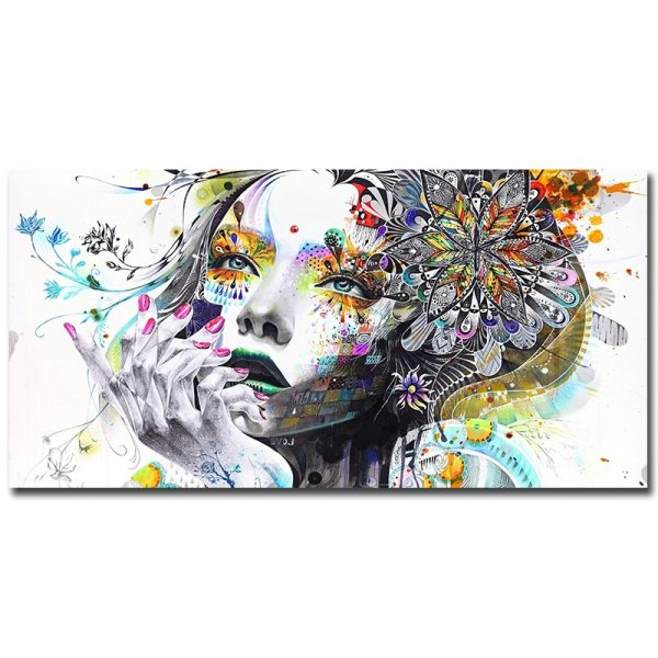 Beautiful Flower Girl Painting Canvas Wall Art Posters Print Pictures For Bedroom Home Decoration No Frame 5 Beautiful Flower Girl Painting Canvas Wall Art Posters Print Pictures For Bedroom Home Decoration No Frame Discount Dropshiping